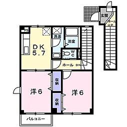 フォンティーヌ[2階]の間取り