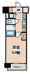 大阪府大阪市中央区東平1丁目の賃貸マンションの間取り