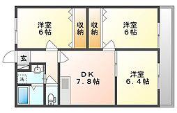プレミアムコート1号館[3階]の間取り