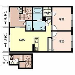 シャーメゾンMSK B棟[2階]の間取り