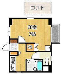 クレスト黒崎[401号室]の間取り