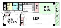 日興千里台スカイタウンA棟[3階]の間取り