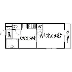 静岡県浜松市中区佐藤2の賃貸マンションの間取り