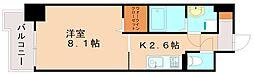 JR篠栗線 柚須駅 徒歩21分の賃貸マンション 9階1Kの間取り