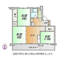 ビレッジハウス御殿場[1-203号室]の間取り