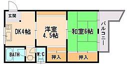 大阪府大阪市東淀川区菅原6丁目の賃貸マンションの間取り