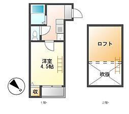 スカイヒル新栄[2階]の間取り