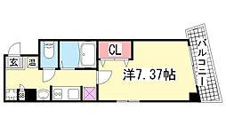 アネスト神戸西元町[805号室]の間取り