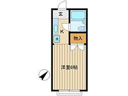 山の上アパート[2階]の間取り