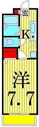 東京都足立区梅島2丁目の賃貸マンションの間取り