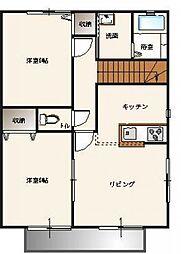 エクセルコA棟[2階]の間取り