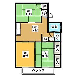 ハイツカプチュール B棟[2階]の間取り