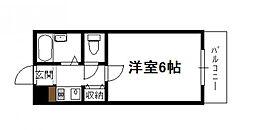 フレクション堀川[206号号室]の間取り