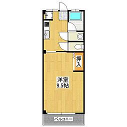 コーポ嶋脇[3階]の間取り