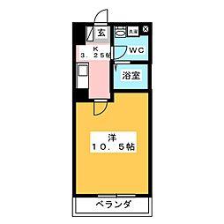 竹中ビル[3階]の間取り
