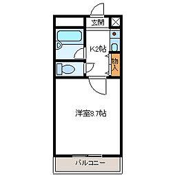 クオーレ平成[2階]の間取り