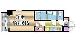エスプレイス神戸ウエストモンターニュ[5階]の間取り