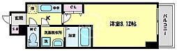 サムティ桜ノ宮レジデンス 8階1Kの間取り