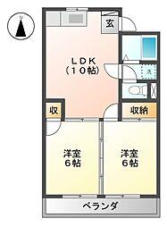 松原マンション[2階]の間取り