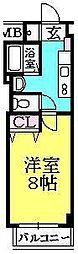 ルミエール西宮(櫨塚町)[6階]の間取り