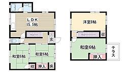 [一戸建] 愛知県名古屋市名東区平和が丘4丁目 の賃貸【/】の間取り