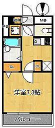 アクアスウィートニッポリ[3階]の間取り
