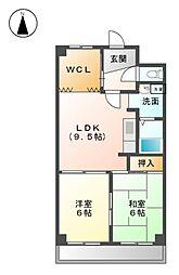 ファミリーハウス天塚[3階]の間取り