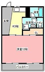 ルームミニオン A[4階]の間取り
