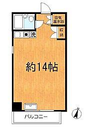 シャンボール第2川崎(日当たり良好、角住戸)[306号室]の間取り