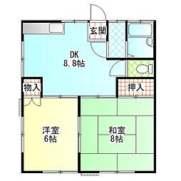 井上アパート[201号室]の間取り