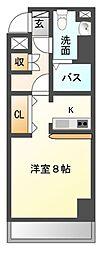 ステーションフロント八幡宿[7階]の間取り