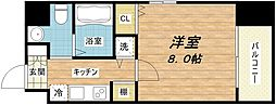 ウエンズ大阪城北[8階]の間取り