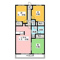 ピアネーズ神ノ倉 A棟[2階]の間取り
