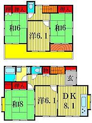 [一戸建] 東京都葛飾区金町3丁目 の賃貸【/】の間取り