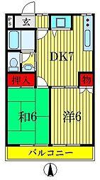 東京都葛飾区東水元5丁目の賃貸アパートの間取り