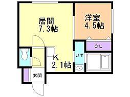 仮)菊水3-2MS 4階1LDKの間取り