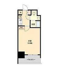名古屋市営東山線 伏見駅 徒歩6分の賃貸マンション 10階1Kの間取り