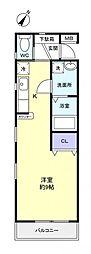 コーポ美和II[2階]の間取り