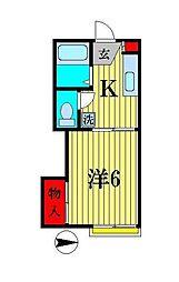 千代田サンハイツ[2階]の間取り