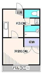 東京都小平市花小金井南町1丁目の賃貸マンションの間取り