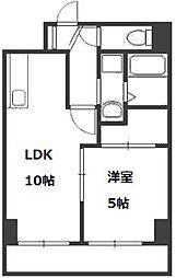 リバーライト菊水[3階]の間取り