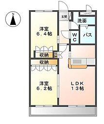 モデルナ江木[2階]の間取り
