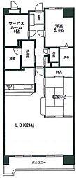 ロイヤルパレス博多[11階]の間取り