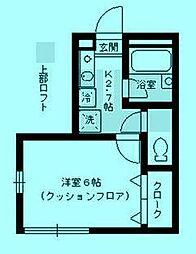 AXIA 溝の口[2階]の間取り