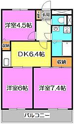 埼玉県志木市中宗岡1の賃貸アパートの間取り