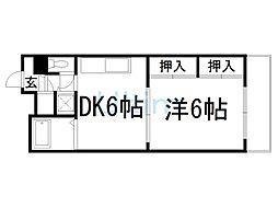 レジデンスオークラ[2階]の間取り