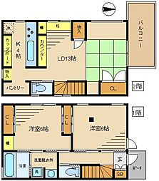 [一戸建] 東京都中野区弥生町1丁目 の賃貸【/】の間取り