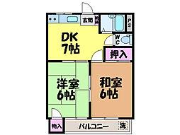愛媛県松山市西石井6丁目の賃貸マンションの間取り