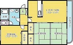 第2瓜生ビル[304号室]の間取り