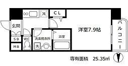 インザグレイス梅田北[9階]の間取り